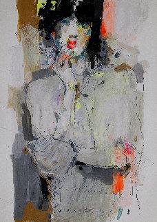 Lady 7 2019  27x19 Original Painting by Victor Sheleg