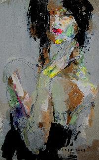 Lady 8 2019 24x15 Original Painting by Victor Sheleg