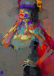 Lady Sharm 2020 39x28 Original Painting - Victor Sheleg