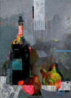 Pears 2020 28x20 Original Painting - Victor Sheleg
