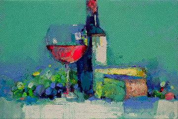Blue Cheese 2020 22x30 Original Painting - Victor Sheleg