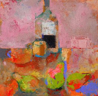Three Pears 2020 19x19 Original Painting - Victor Sheleg