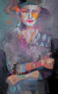 Harlequin 2020 24x15 Original Painting - Victor Sheleg