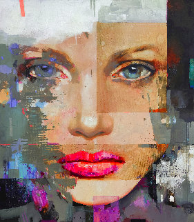 Reflection 2021 59x51 Huge Original Painting - Victor Sheleg