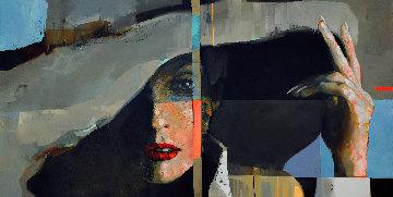 Spectrum Lady 2021 39x79 Huge Original Painting - Victor Sheleg
