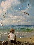 Sea Dreams 1980 41x34 Original Painting - Adolf Sehring