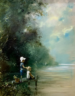 Days to Remember 41x34 Huge Original Painting - Adolf Sehring