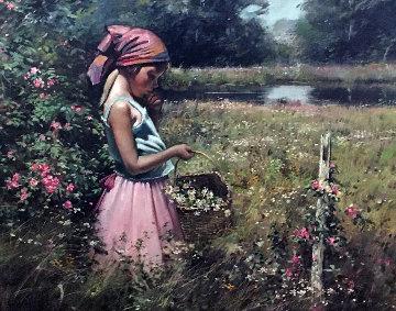 Wild Roses 22x26 Original Painting - Adolf Sehring