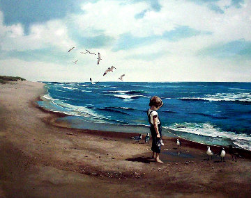 Boy on Beach PP 1983 Limited Edition Print - Adolf Sehring