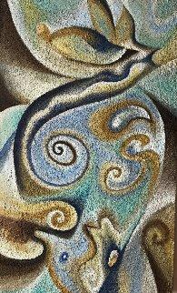 Kundalini Reina 2016 40x24 Original Painting - Charles Sherman