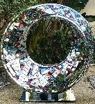 Radiant Infinity Glass and Ceramic Unique Sculpture 2020 42 in Sculpture - Charles Sherman