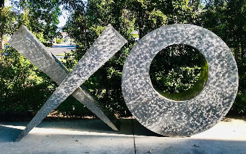 Love Letters Stainless Steel Sculpture 2019 152 in Sculpture - Charles Sherman