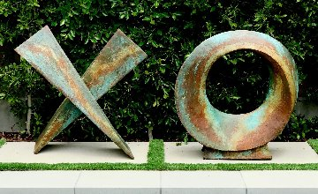Love Letters Ceramic and Copper Patina Sculpture 2020 80 in Sculpture - Charles Sherman