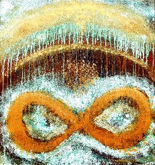 Infinity's Rainbow 2020 32x30 Original Painting - Charles Sherman