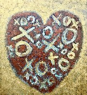 Happy Heart 2020 40x36 Huge Original Painting by Charles Sherman - 1