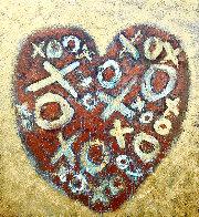 Happy Heart 2020 40x36 Huge Original Painting by Charles Sherman - 0
