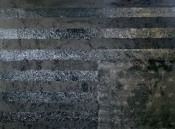 Grieving Flag in Black 2020 36x47 Original Painting by Charles Sherman