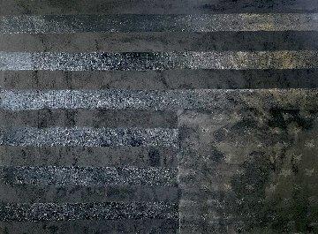 Grieving Flag in Black 2020 36x47 Super Huge  Original Painting - Charles Sherman