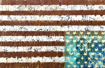 Grieving Flag, 2020 28x44 Original Painting - Charles Sherman