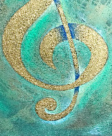 I Saw the Treble Clef in Gold 2020 40x30 Original Painting by Charles Sherman - 2
