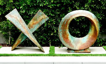 Love Letters Mixed Media Ceramic Sculpture Set of 2  40x80 Sculpture - Charles Sherman