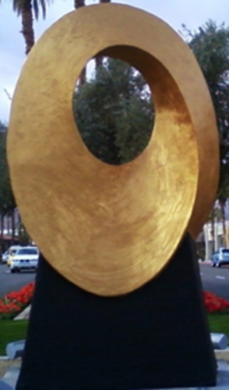 Infinite Sun Resin and Glass Sculpture - Monumental Sculpture by Charles Sherman