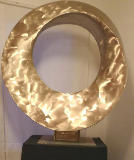 Serenity,  Infinity Ring, Bronze Sculpture 2020 40 in Sculpture by Charles Sherman