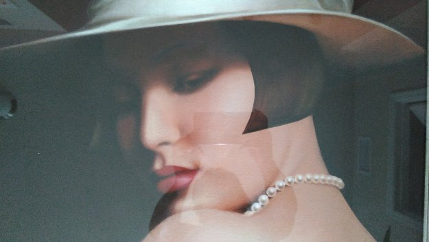 White Hat And Pearls 39x31 Original Painting by Alexander Sheversky