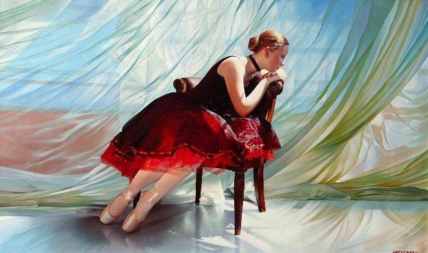Breeze  36x60 Original Painting by Alexander Sheversky