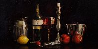 Still Life With Wine 24x48 Super Huge Original Painting by Alexander Sheversky - 1