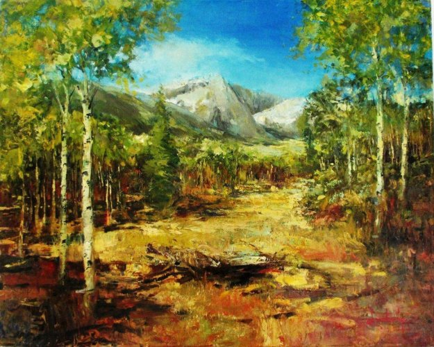 Fall - Grand Teton 2010 30x24 Original Painting by Stephen Shortridge