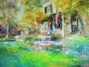 Early Morning Murphys California 2009 59x46 Original Painting - Stephen Shortridge