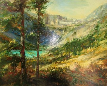 Glacier Park 2009 30x24 Original Painting - Stephen Shortridge