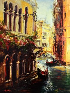 Streets of Venice 2007 Embellished  Limited Edition Print by Stephen Shortridge