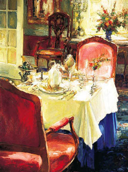 Table For Two Embellished 2002 Limited Edition Print by Stephen Shortridge
