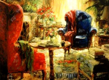 Blue Chair 2002 Embellished Limited Edition Print by Stephen Shortridge
