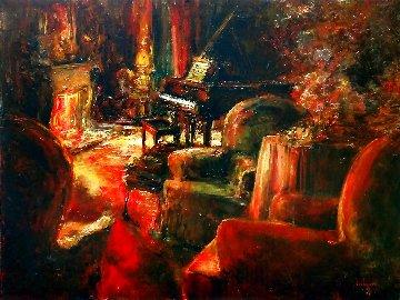 Evening Mood 36x48 Huge Original Painting - Stephen Shortridge