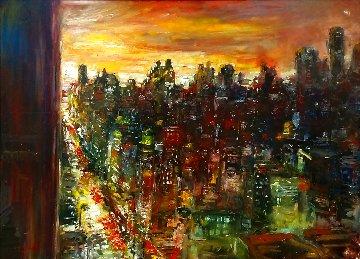 Untitled Painting 30x40 Huge Original Painting - Stephen Shortridge