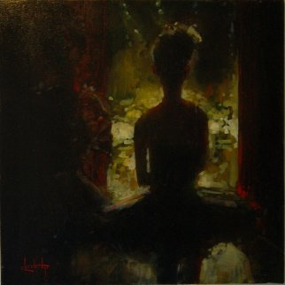 Anticipation 2011 24x24 Original Painting - Stephen Shortridge