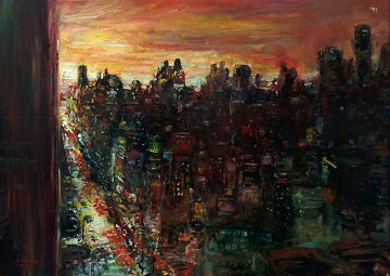 Untitled Cityscape 30x40 Original Painting by Stephen Shortridge