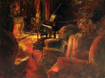 Evening Mood 36x48 Super Huge Original Painting - Stephen Shortridge