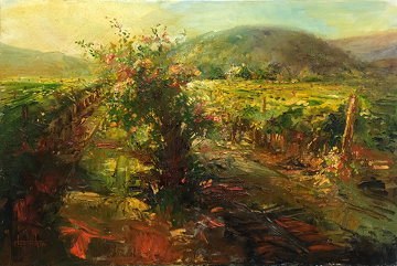 Streaming Light, Yountville Napa 24x36 Original Painting by Stephen Shortridge