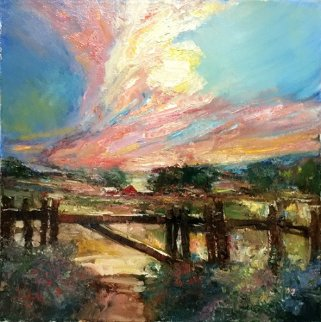 Sunset Rothdrum 20x20 Original Painting - Stephen Shortridge
