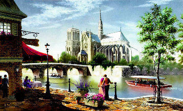 Noon in Paris 2002 Notre Dame Limited Edition Print - Kenneth Shotwell