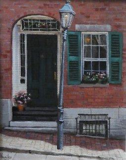 Sixteen 1994 15x17 Original Painting - Viktor Shvaiko