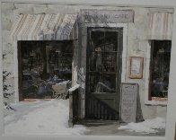 Woodland Cafe 1995 39x33 Huge Original Painting by Viktor Shvaiko - 1