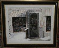 Woodland Cafe 1995 39x33 Huge Original Painting by Viktor Shvaiko - 2