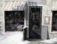 Woodland Cafe 1995 39x33 Huge Original Painting by Viktor Shvaiko - 0