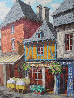 Memory of Brittany 2013 24x30 Original Painting - Viktor Shvaiko