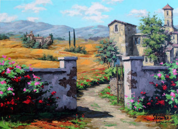 Afternoon in Tuscany 2005 Embellished Limited Edition Print - Viktor Shvaiko